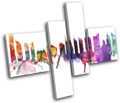 Dubai Watercolour Abstract City - 13-6002(00B)-MP20-LO
